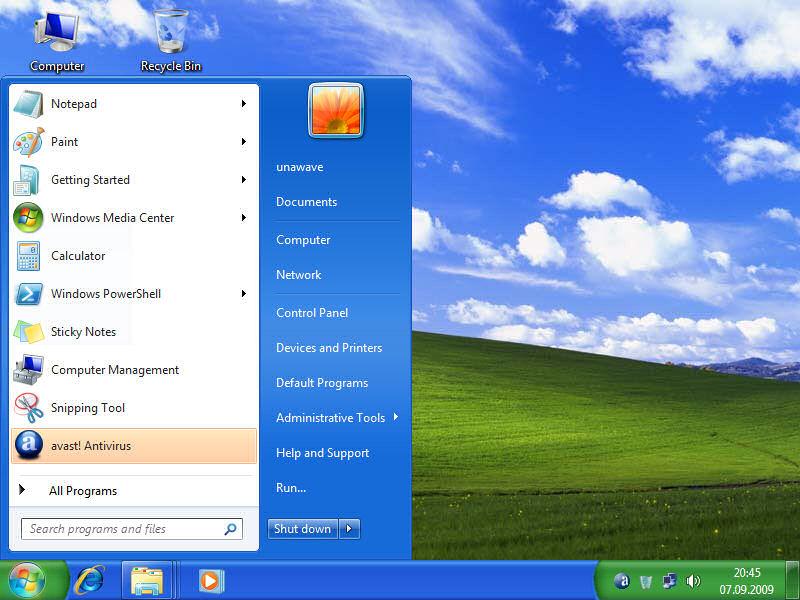 windows classic pentru un laptop mai rapid