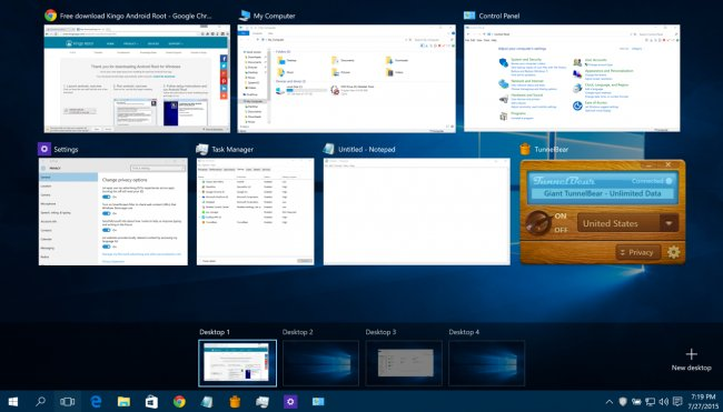 Virtual Desktops Windows 10
