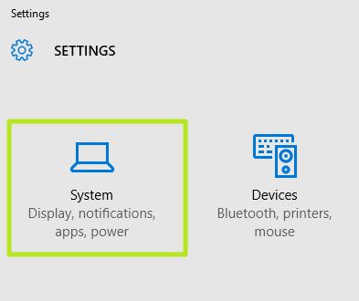 windows 10 click system